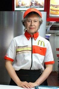 queen at macdonalds